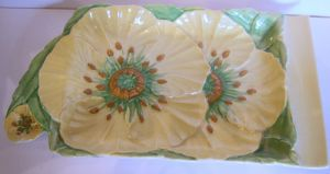 Carlton Ware Yellow Buttercup Cheese Tray - SOLD